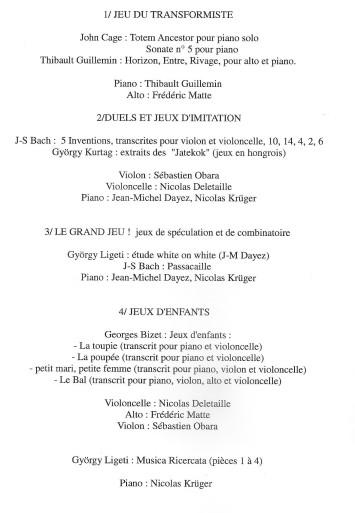 Les Noces programme 001